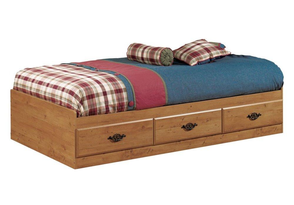 Кровать подростковая. кровать из натурального дерева с выдвижными ящиками-З