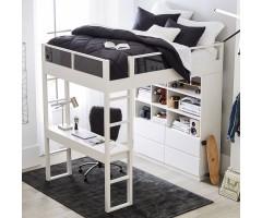 Широке ліжко-горище зі стелажем та столом Боуен Лофт