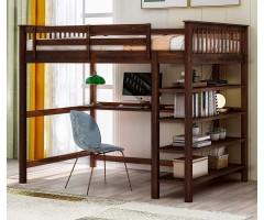 Ліжко-горище зі стільницею і полицями Мальбек Лофт