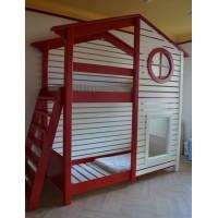 Ліжко будиночок зі стінкою та лагами Касл