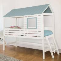 Детская двухэтажная кровать домик Шале