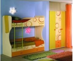 Набір меблів Фрутіс з тридверною шафою і двоярусним ліжком