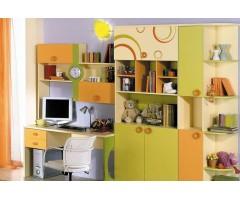 Модульна стінка з робочим місцем із 4 предметів