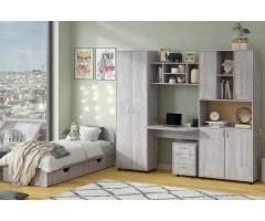 Детская комната Симба ДСП со стенкой и кроватью