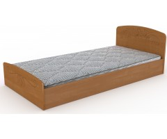 Кровать с декором Нежность МДФ 90х200 см