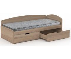 Ліжко 90+2С зі спинкою і шухлядами 90х200 см