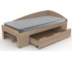 Оригінальне ліжко 90+1 зі спинкою і шухлядою 90х200 см