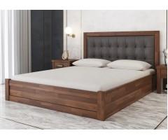 Буковая кровать Мадрид МПМ с подъемным механизмом