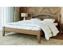Двоспальне дерев'яне ліжко Афіна-1