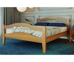 Дерев'яне ліжко з кованими елементами Афіна-2