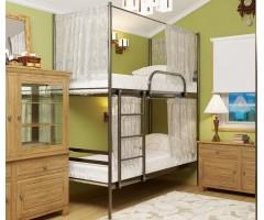 Двухъярусная металлическая кровать Дуо Шторки