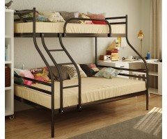Двухъярусная металлическая кровать Смарт