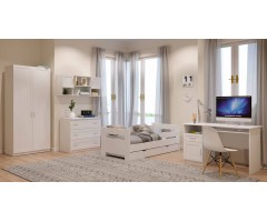 Меблі для кімнати підлітка з 5 елементів Зефір