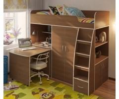 Ліжко-шухляда з шафою та висувним столом КЧО-157