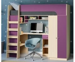 Ліжко з шафою, столом та полицями КЧО-146