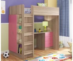 Ліжко-горище в стилі лофт з шафою і столом КЧО-130