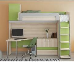 Ліжко-горище з шафою в стилі модерн КЧО-120