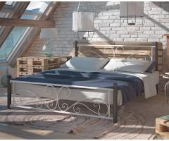 Ліжко Нарцис двоспальне на дерев'яних ніжках