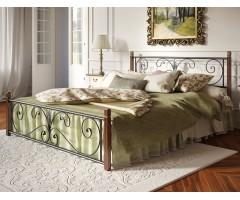 Металеве двоспальне ліжко Крокус