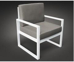 Крісло Час Пік з металу з подушками