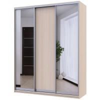 Вместительный шкаф- купе Сити Лайт с двумя зеркалами