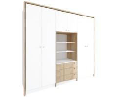Набор Смарт с широкими шкафами, антресолью и комодом