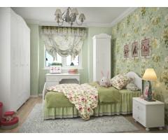 Набор из 5 элементов - шкаф, кровать, пенал, стол письменный, тумба, Ассоль