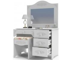 Набор из 3 элементов - стол, пуф-банкетка и зеркало, Ассоль