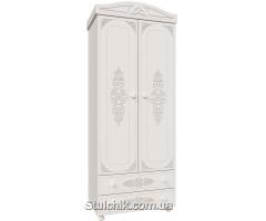 Шкаф 2-х дверный со штангой и полками Ассоль 019