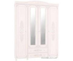 Шкаф 4-х дверный с зеркалом Ассоль 024