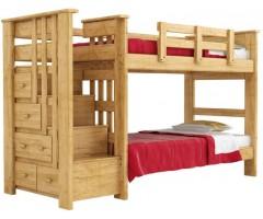 Двухэтажная кровать с комодом лестницей и ящиками Райдер