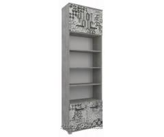 Шкаф для книг и одежды Арт Фьюжн