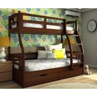 Двоярусне тримісне ліжко Аліса