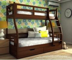 Двухъярусная трехместная кровать с ящиками Алиса