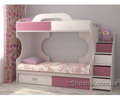 Двухъярусная кровать с лестницей-комодом Дори Роуз