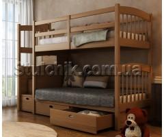 Двоярусне ліжко з драбиною-комодом Кирило