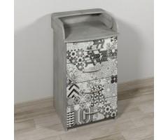 Узкий пеленальный комод с ящиками Арт-Фьюжн