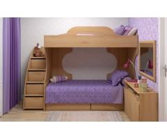 Модульный набор Квест-А из 7 предметов с кроватью и тумбой