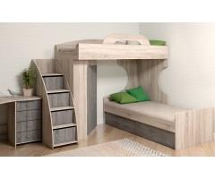 Модульная комната с кроватью и шкафом Квест S набор из 6 элементов