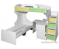 Кровать двухэтажная композиция Пионер вариант 3