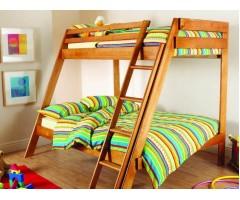 Дерев'яне двоярусне ліжко Берні