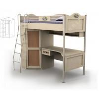 Кровать-чердак подростковая двухъярусная со шкафом Angel