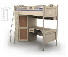 Ліжко-горище підліткове двох'ярусне з шафою Angel