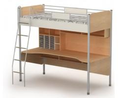 Подростковая кровать-чердак с рабочей зоной Mega
