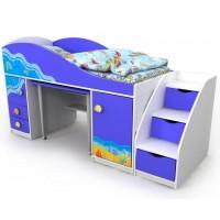 Ліжко-горище з висувним столом Ocean