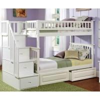 Двухъярусная кровать Лорд с лестницей-комодом и ящиками