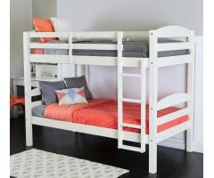 Двоповерхове ліжко Твайс біле
