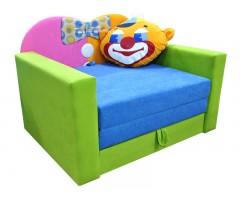 Дитячий розкладний салатовий диван Фантазія Клоун 01M051