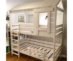 Двухъярусная кровать домик Бордо
