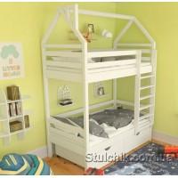 Кровать домик двухъярусный Бристоль